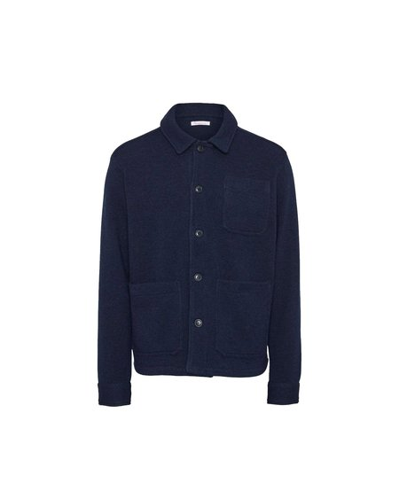 knowledge cotton apparel Sobrecamisa Pine Functional Wool - Total Eclipse