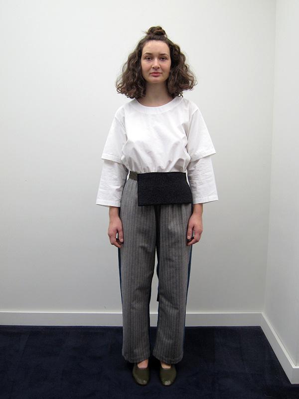 Unisex Rowena Sartin Two Faced Pants w/Pocket Belt