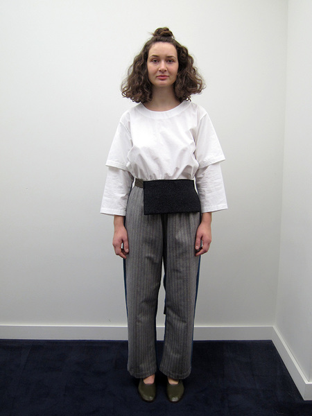 Unisex Rowena Sartin Two Faced Pants w/Pocket Belt