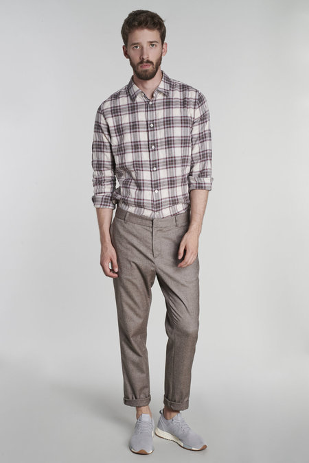 Delikatessen a Blend of Virgin Wool, Cotton and Elastane Trousers - gray