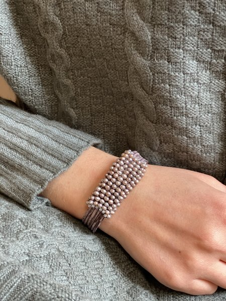 Martell Mauve Pearls with Topaz Gem Cuff