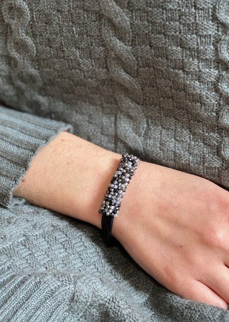 Martell Black & Silver Crystal Bracelet