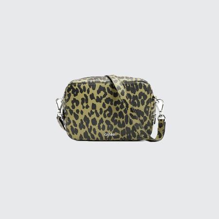 Ganni Recycled Leather Small Bag - Olive