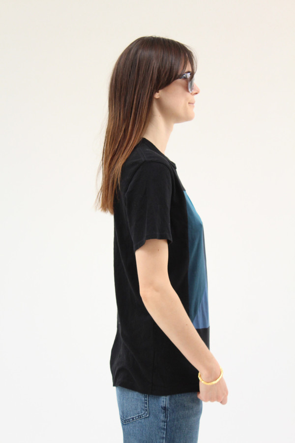 Correll Correll Diagonal T Shirt Black