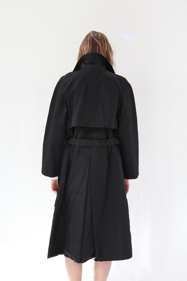 Kowtow Keepsake Trench Coat Black