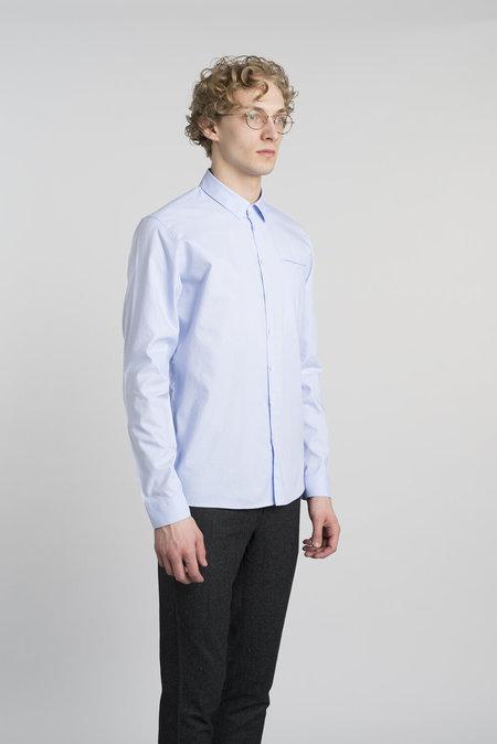 Delikatessen Cotton Proper Shirt - Sky Blue