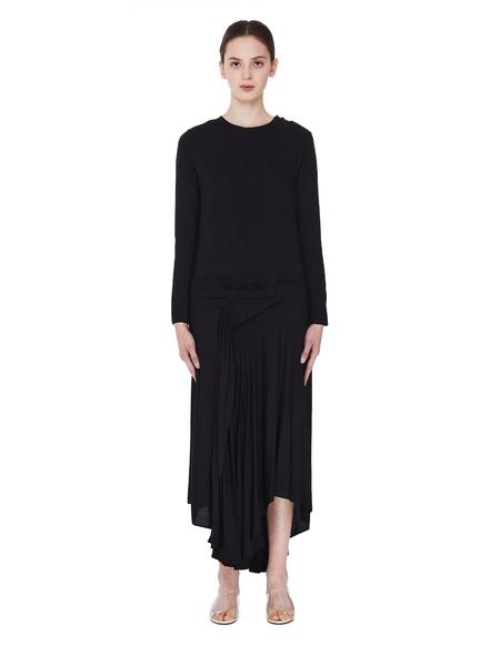 Yohji Yamamoto Black Asymmetric Hem Dress