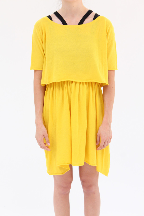 Lina Rennell Detached Dress Turmeric