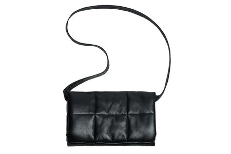 Clyde Muff Lambskin Bag - Black