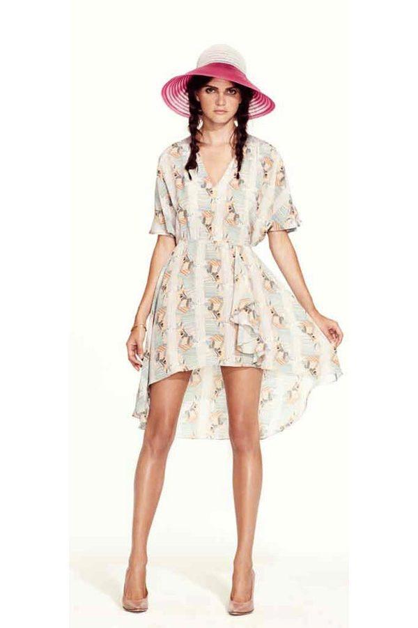 Tucker Cascade Mini Dress