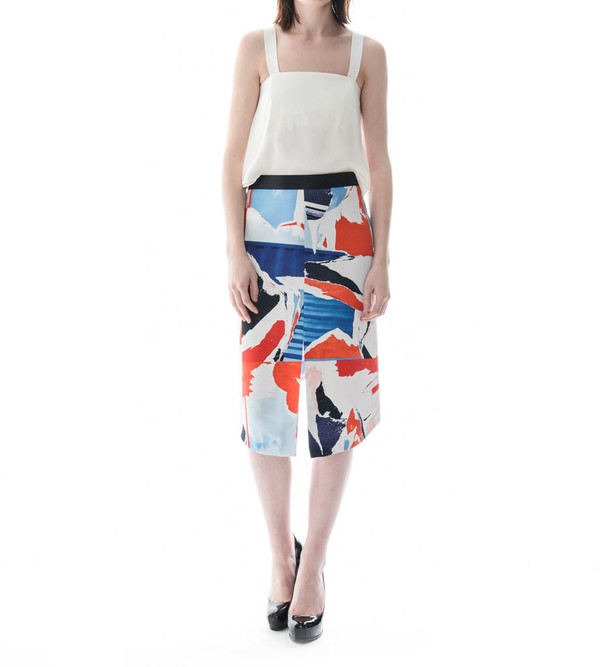 Dion Lee Collage Pencil Skirt