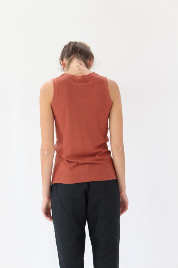 Lina Rennell Tank Cotton / Silk Knit Spice
