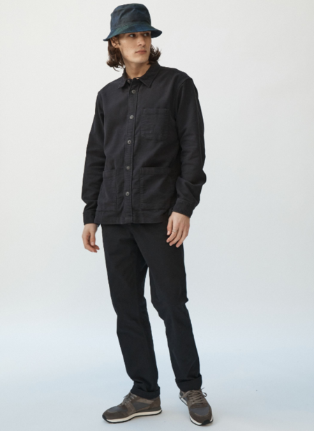 Corridor Moleskin Over Shirt - Black