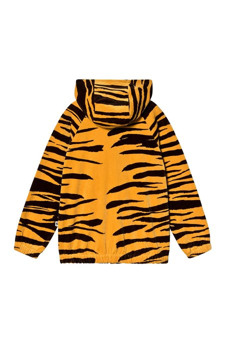 Kids Mini Rodini Tiger Velour Jacket