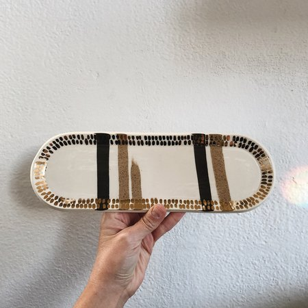 The Object Enthusiast Dual Striped Inlay Tray + Gold