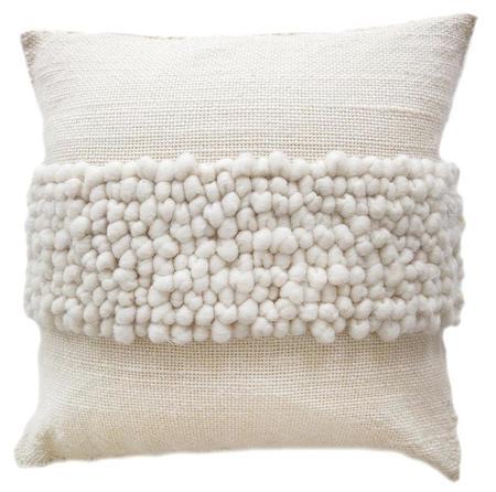 Pampa Porteño Cushion #4 - natural white