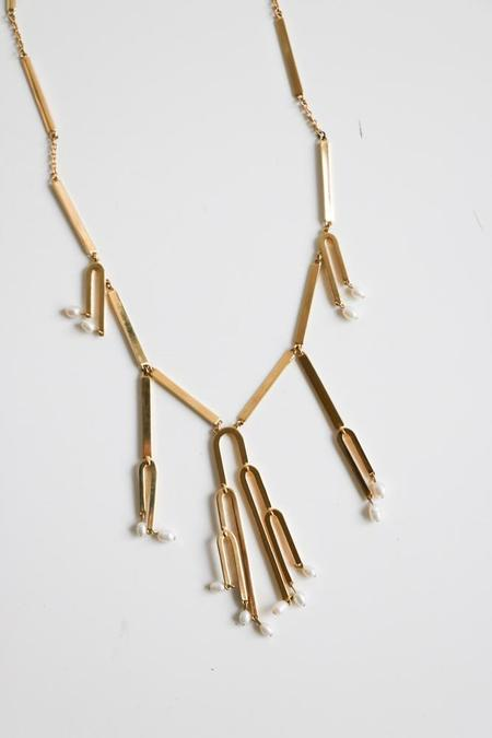 Sarah Magid Pearl Bar Necklace - Gold-Plated