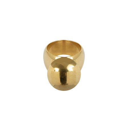 Wouters & Hendrix Statement Ball Ring - 14K Gold/sterling silver