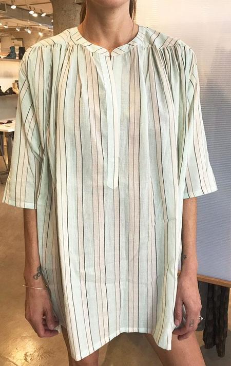 Two pale shirt - blue stripe