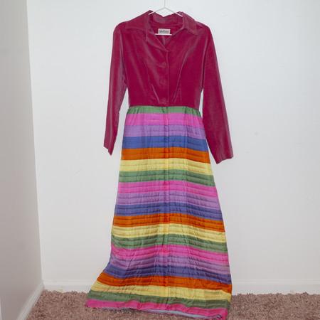 Kintsugi Velvet Rainbow Dress - Multi