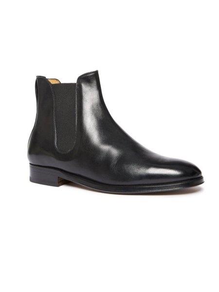 Officina del Poggio Essentials Classic Chelsea Boot - Black Leather