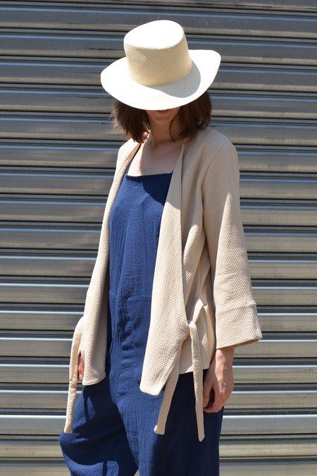 Zii Ropa Ama Kimono Coat - Beige