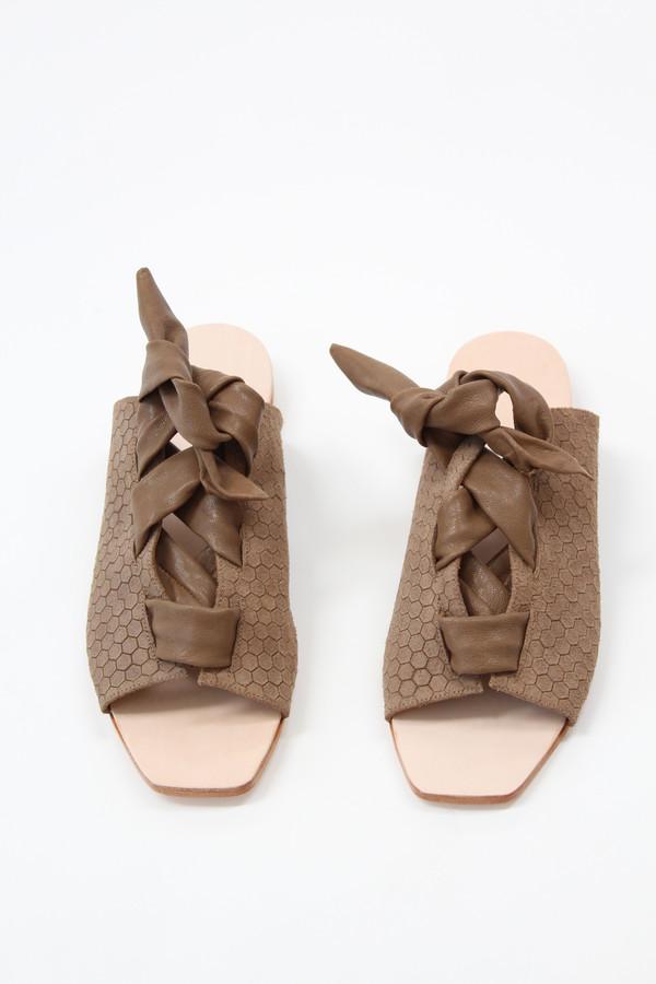 The Palatines Palatines Texo Lace-up Sandal Bark Hex