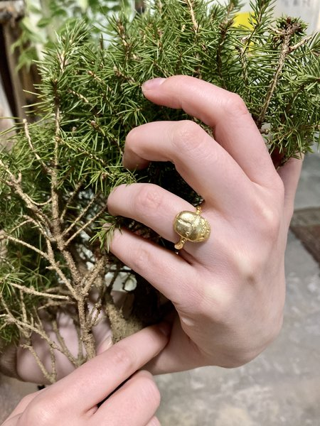 Tribute Scarab Beetle Luck Ring - 18K gold plated