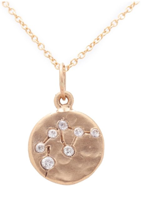 Valley Rose Aquarius Constellation Necklace - 14k gold/White Sapphire
