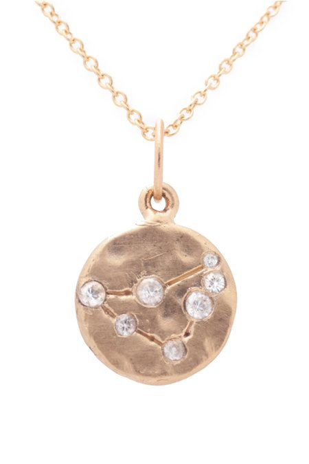 Valley Rose Capricorn Constellation Necklace - 14k gold/White Sapphire