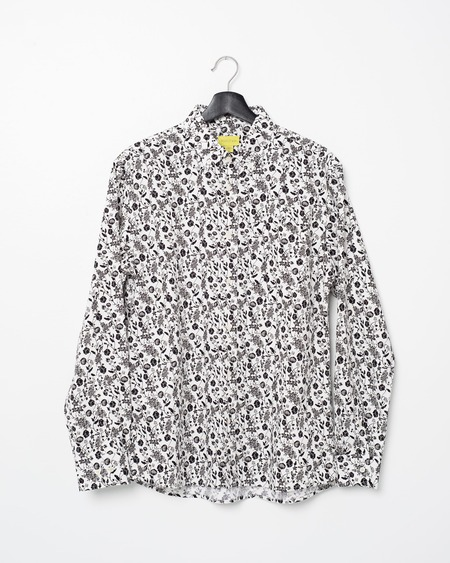 Poplin & Co. Casual Button Down Long Sleeve Shirt - Floral Fields