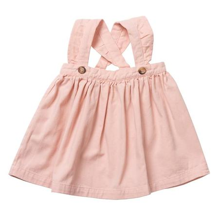 KIDS Bonton Baby Biche Pinafore Dress - Velvet Pink