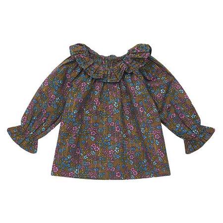 KIDS Bonton Baby Bille Vintage Floral Print Blouse - Brown