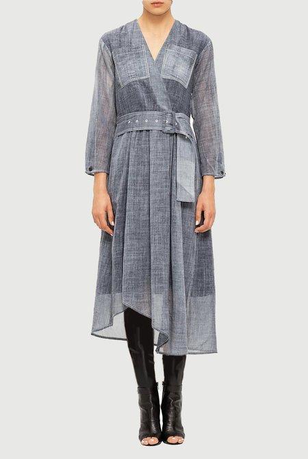 Colovos x Woolmark Cold Water Dye Indigo Wool Dress
