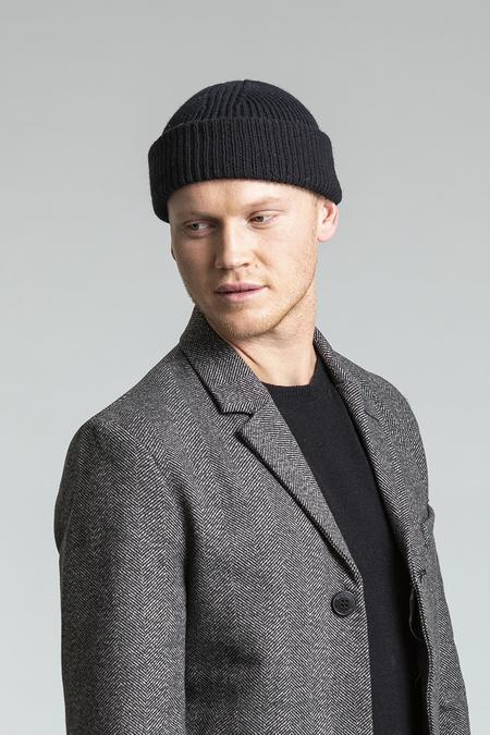 Merino Rib Hat, Black