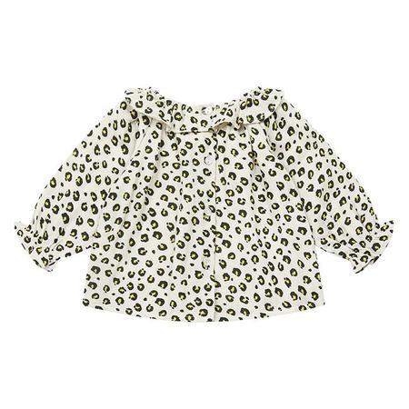 KIDS Bonton Baby Solane Leopard Print Blouse - Beige