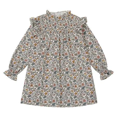 KIDS Bonton Child Babouch Floral Liberty Print Dress - Cream