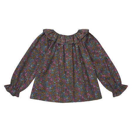 KIDS Bonton Child Billou Vintage Floral Print Blouse - Brown