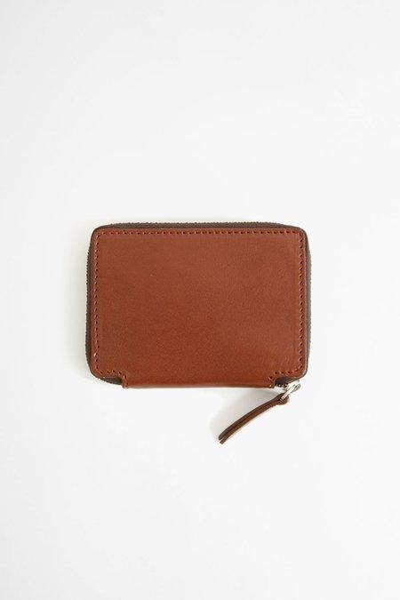 Del Barrio Compact zip wallet with coin purse - brown