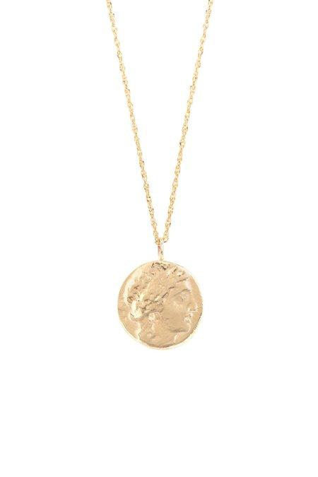 Eikosi Dyo Icon Appolo Coin Medal Necklace - 14K Yellow Gold/Silver