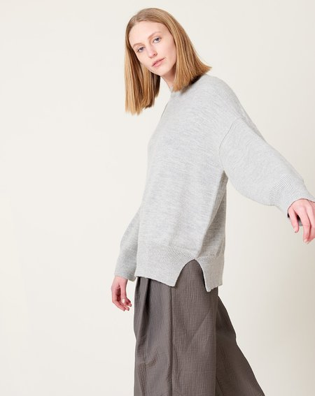 Lauren Manoogian Wide Crewneck - Light Grey