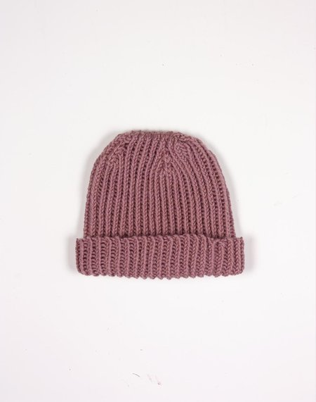 KIDS Noble Carriage Chunky Hand-Knit Beanie - Elderberry