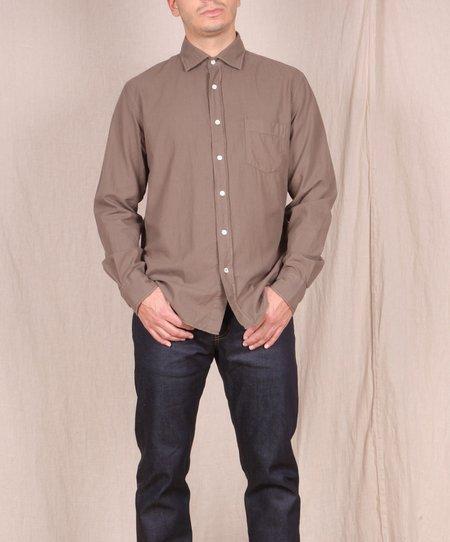 Hartford Garment Dyed Flannel Button Down - Vison