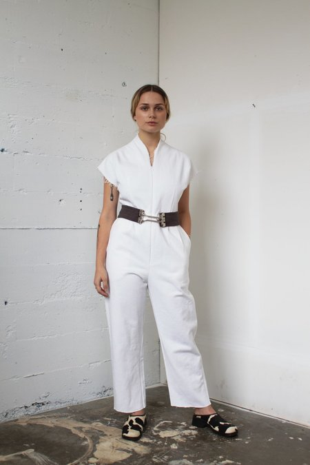 Alexa Stark white denim jumper