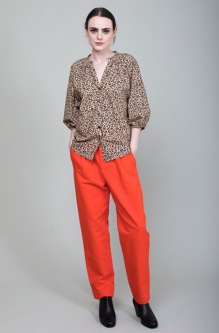 Apiece Apart Elisa Trouser - Tomato Red