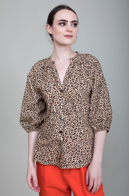Apiece Apart Mitte Top - Leopard Bouquet
