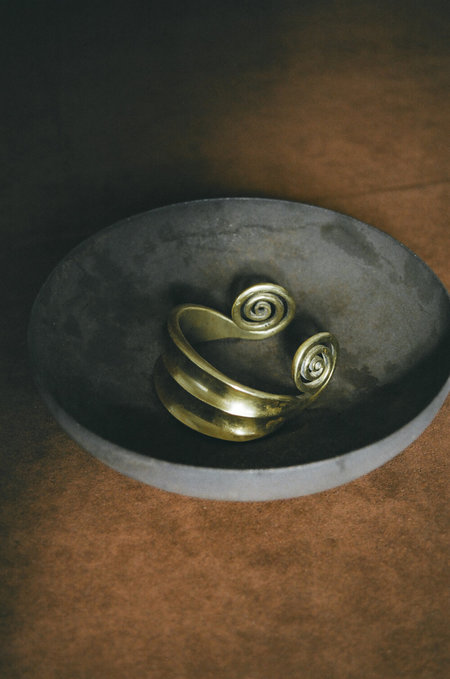 lawrence & schmidt Hand-forged Solid Cuff - Brass