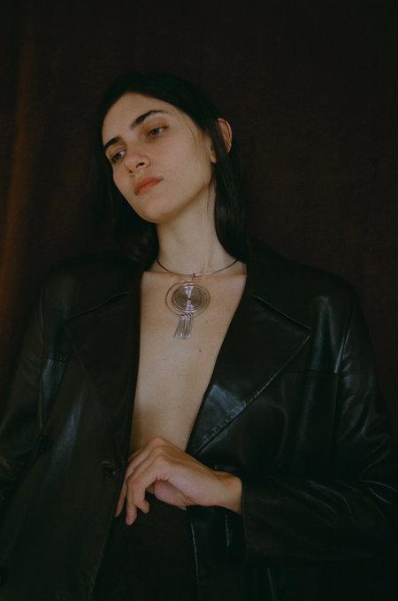 Lawrence & Schmidt Spring Spiral Collar Necklace - Silver Alloy