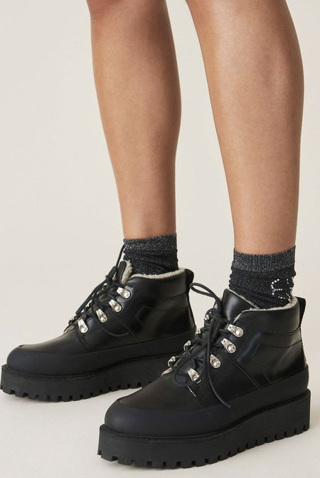Ganni Brush Off City Hiking Boots