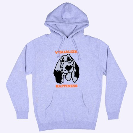 Quasi Happiness Hooded Sweater - Heather Grey